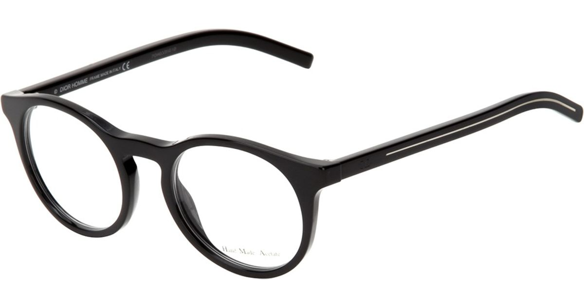 Lyst - Dior Homme Round Frame Glasses in Black for Men