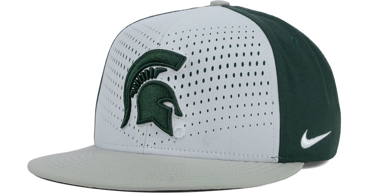 promo code 45eae 2cdc7 50% off lyst nike michigan state spartans true seasonal snapback cap in  green for men