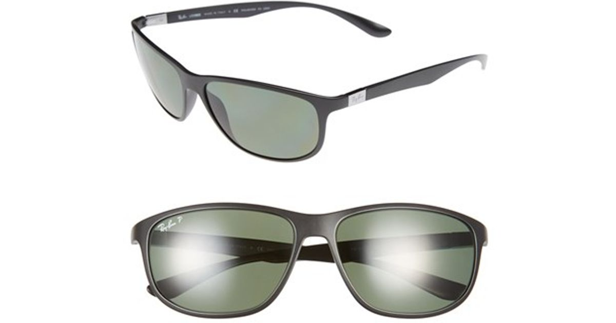 a6b82a77488a9 Lyst - Ray-Ban  tech Liteforce  61mm Polarized Sunglasses in Black for Men