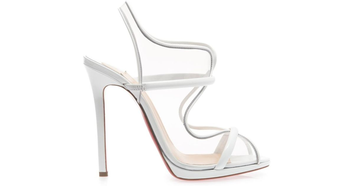 christian louboutin white sandals