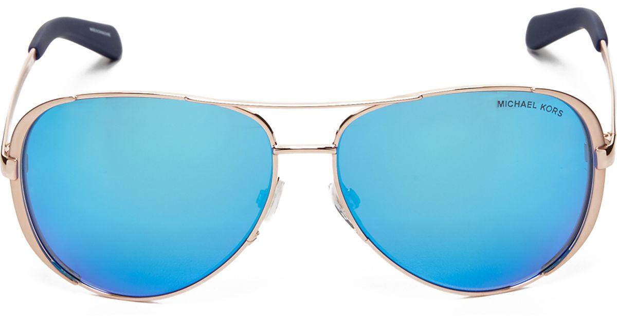Lyst - Michael Kors Chelsea Polarized Sunglasses in Metallic 3800a3475d6