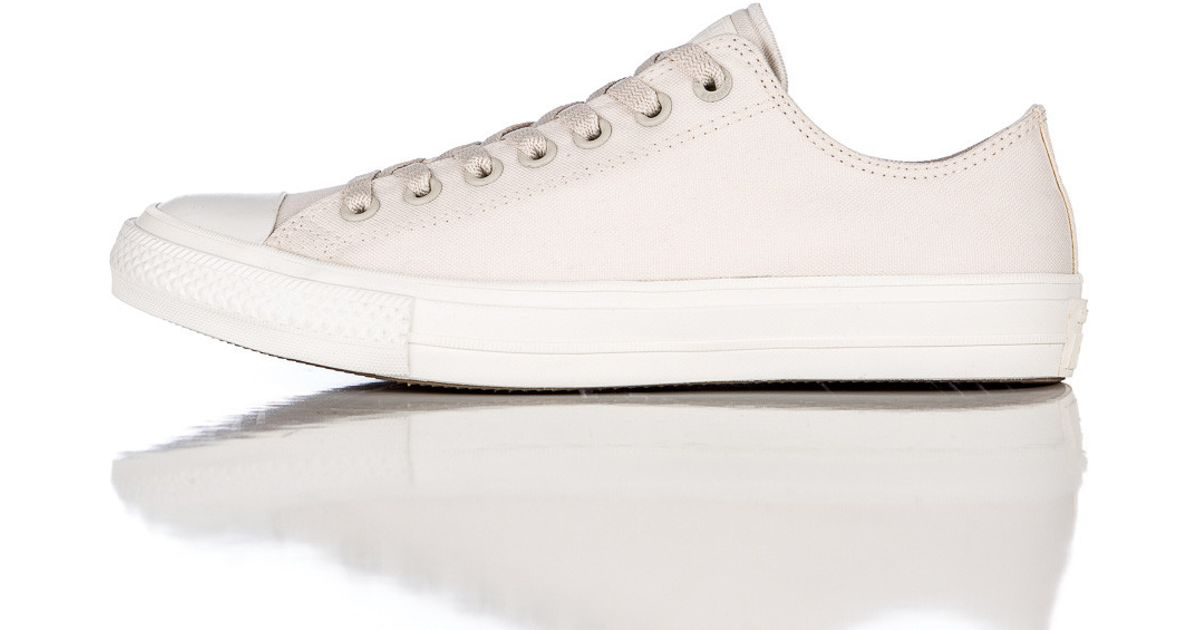 20210c9031e7c3 Lyst - Converse Chuck Taylor All Star Ii Ox Low In Parchment navy in Pink  for Men