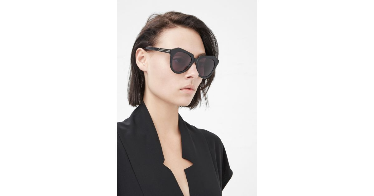 21f19fc57815 Lyst - Karen Walker Black Number One Sunglasses in Black