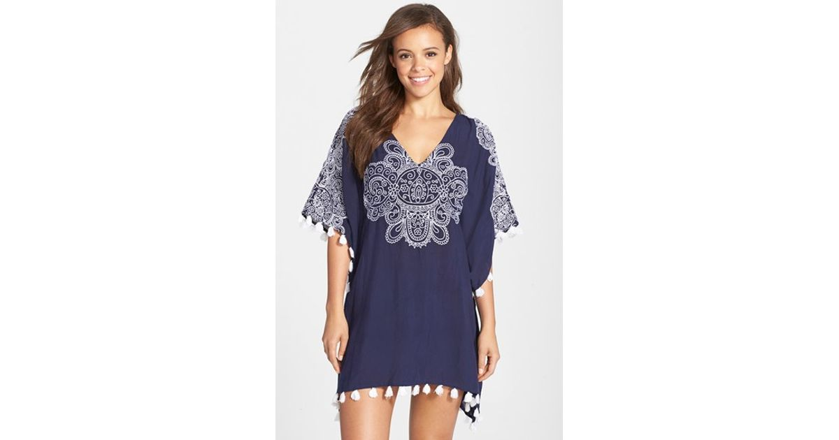 be9cb17549 Lyst - Nanette Lepore  henna  Cover-up Caftan in Blue