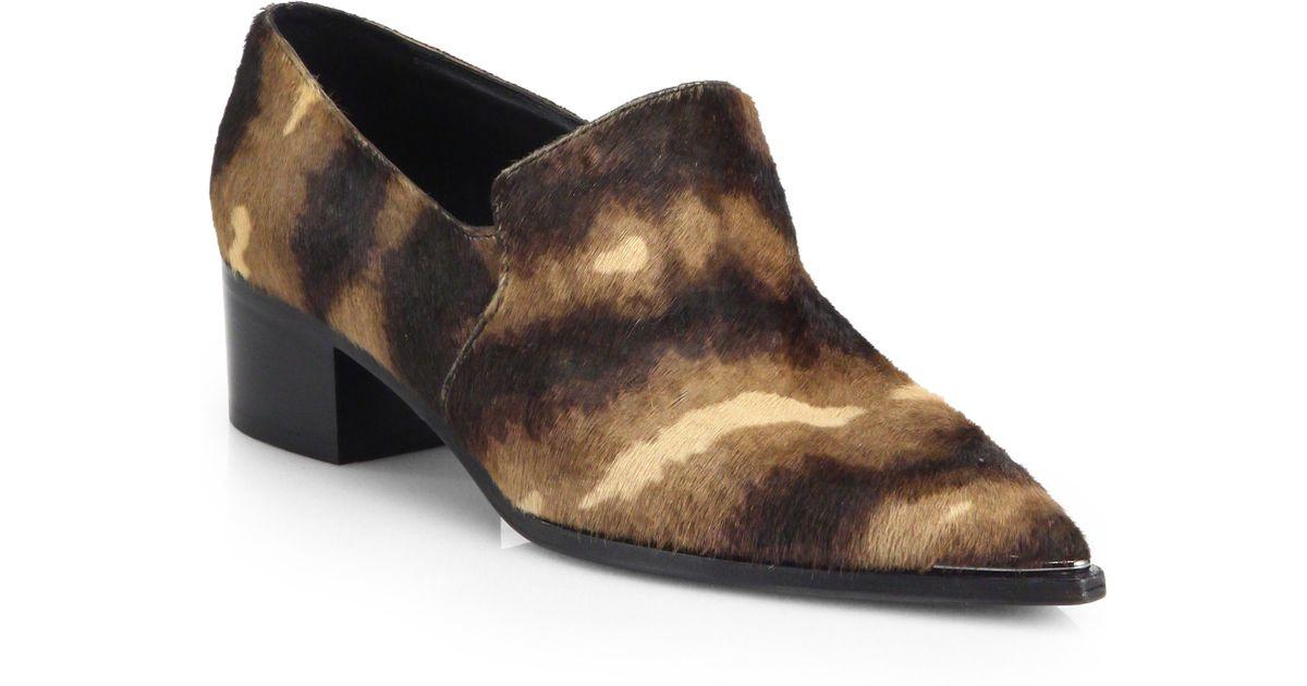 d881773df07 Lyst - Acne Studios Jaycee Lamb Hair Point-Toe Loafers in Brown