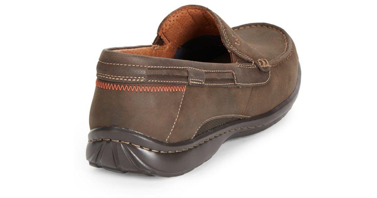 Nubuck sand Clarks Brown Slip Ons For Men Un RjL35qA4