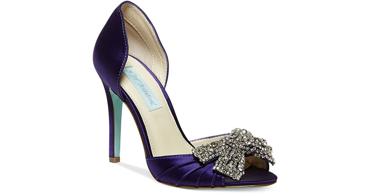 Lyst - Betsey Johnson Blue By Gown Evening Pumps in Purple