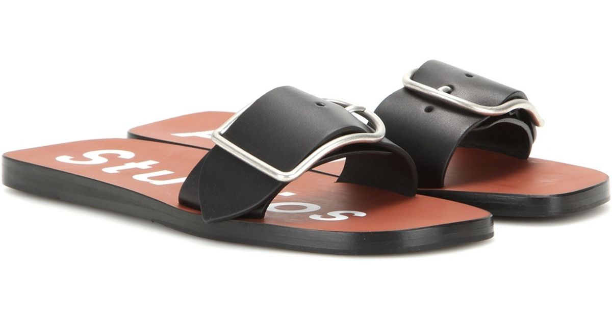 Acne Studios Odet Leather Sandals in
