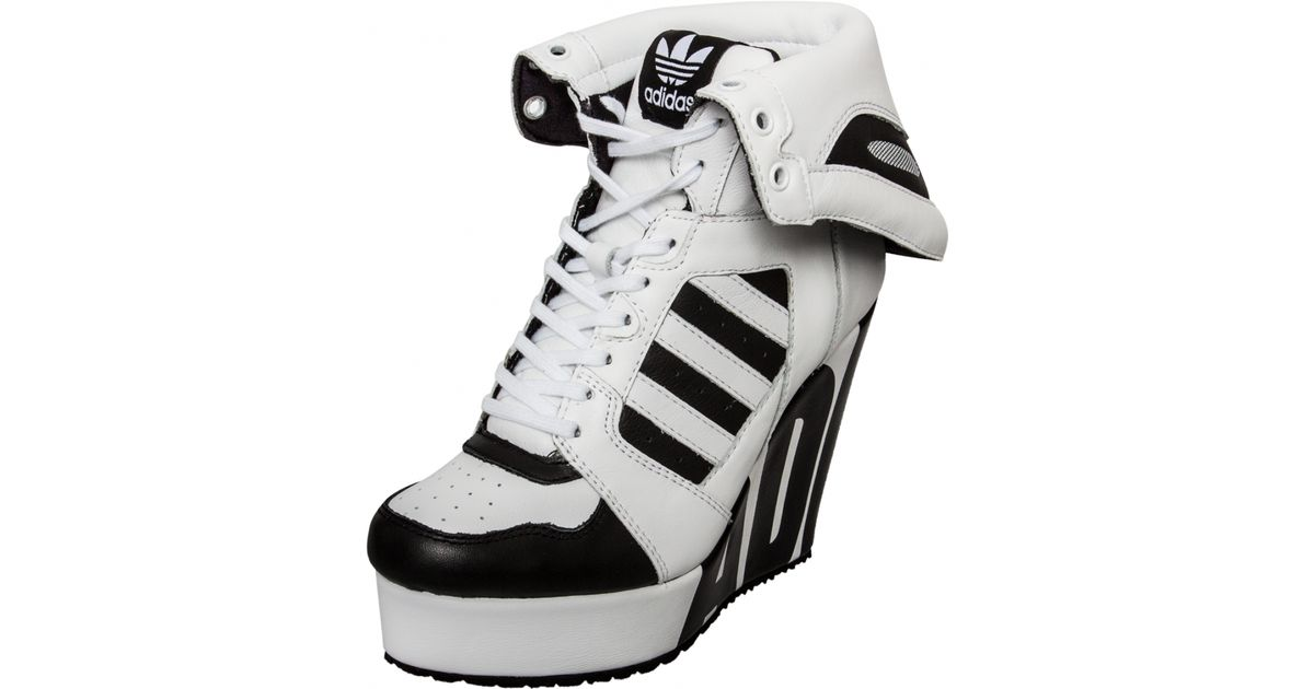 Jeremy Scott for Adidas | Streetball Platform Logo Wedge