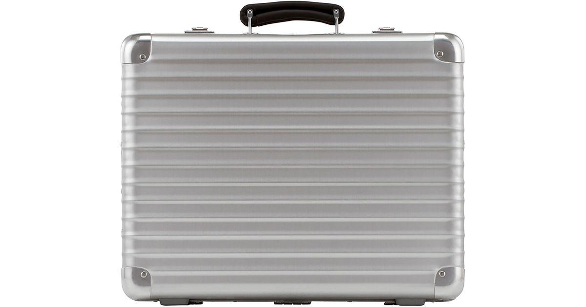 rimowa classic flight attache case in metallic for men lyst. Black Bedroom Furniture Sets. Home Design Ideas