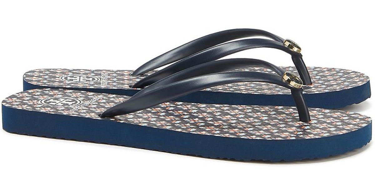 deba45cc10213 Lyst - Tory Burch Thin Flip-flop in Blue