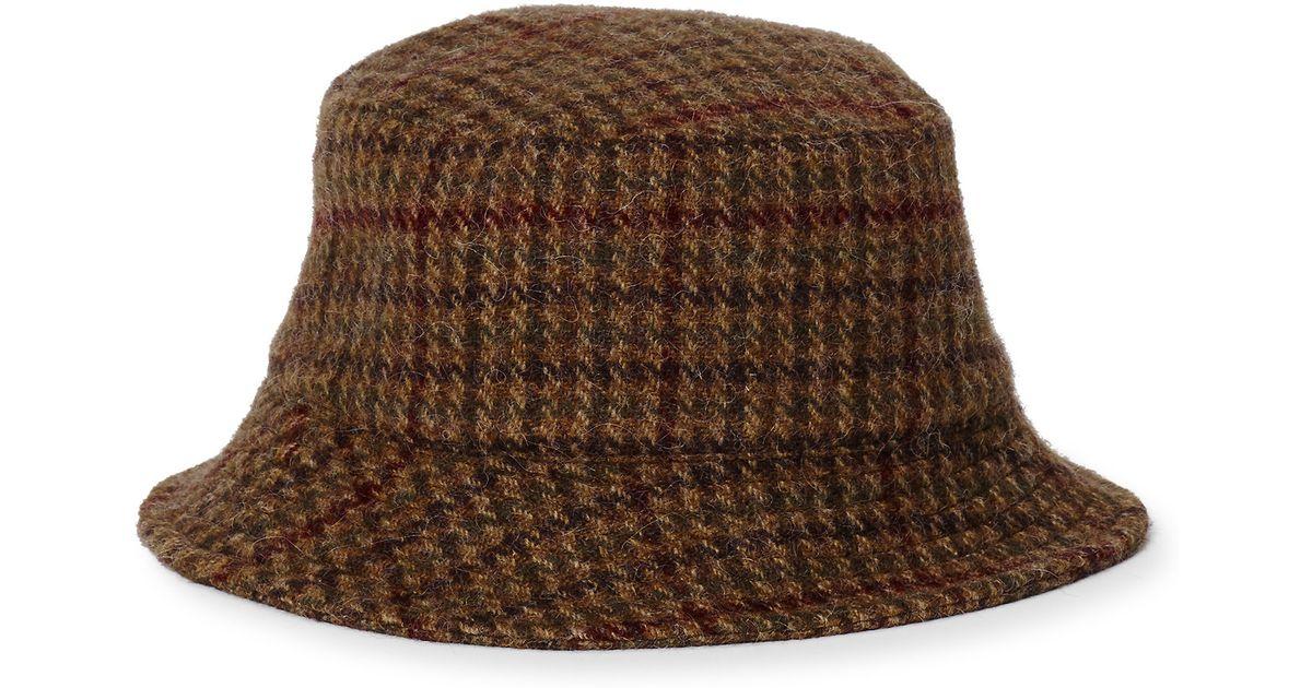 Lyst - Polo Ralph Lauren Wool-blend Tweed Bucket Hat in Brown for Men f2f569d6bd5