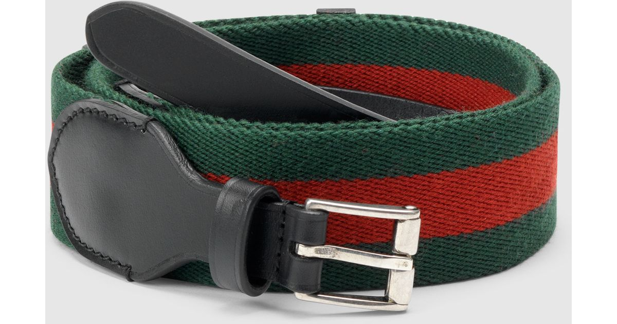 9982abcee32d Gucci Black Leather Belt With Signature Web From Equestrian Collection in  Black for Men