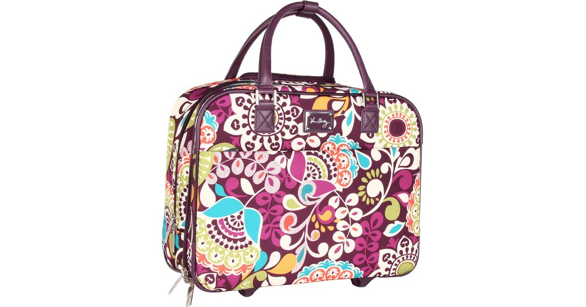 Vera Bradley Luggage Purple Rolling Work Bag
