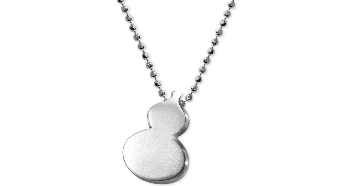870c23e8470e5 Lyst - Alex Woo Little Faith Wulu Gourd Pendant In Sterling Silver in  Metallic