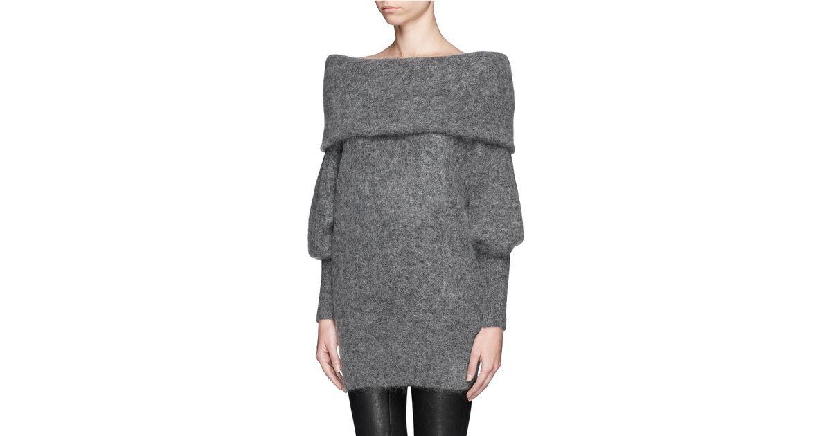 6f27812374d1 Sweater Neck Gray  daze  Lyst Acne Cowl In Studios Oversize 6XwxUaxYq