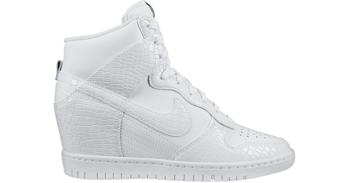 more photos af414 a8823 Nike Dunk Sky Hi White Snake in White - Lyst