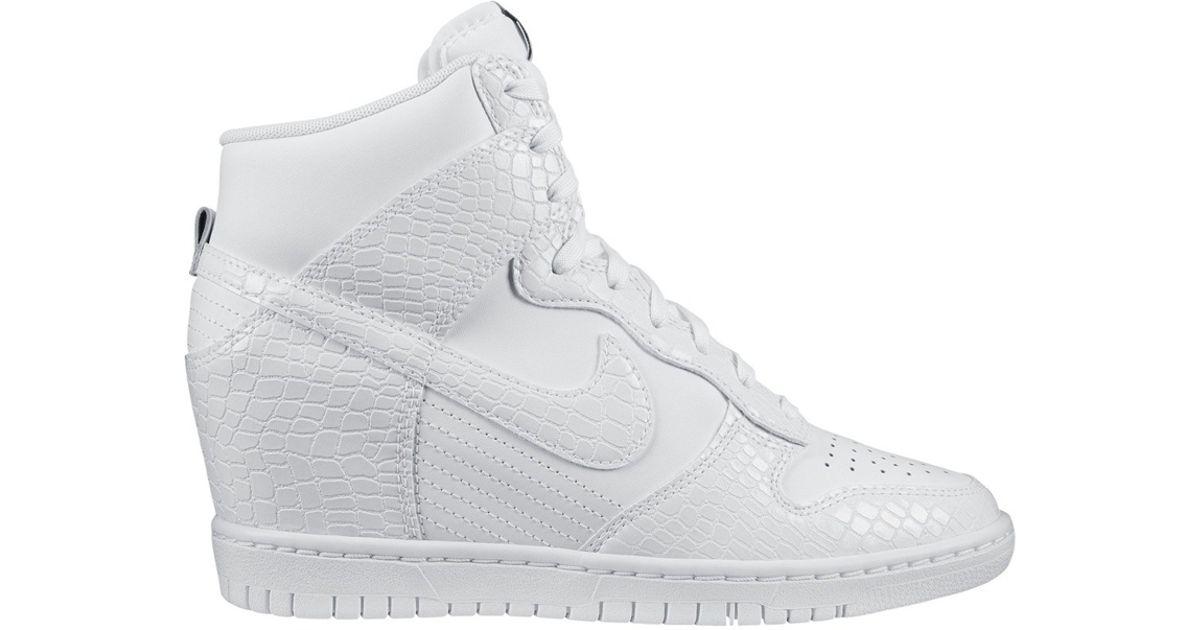 more photos 0ad5c c36b3 Nike Dunk Sky Hi White Snake in White - Lyst