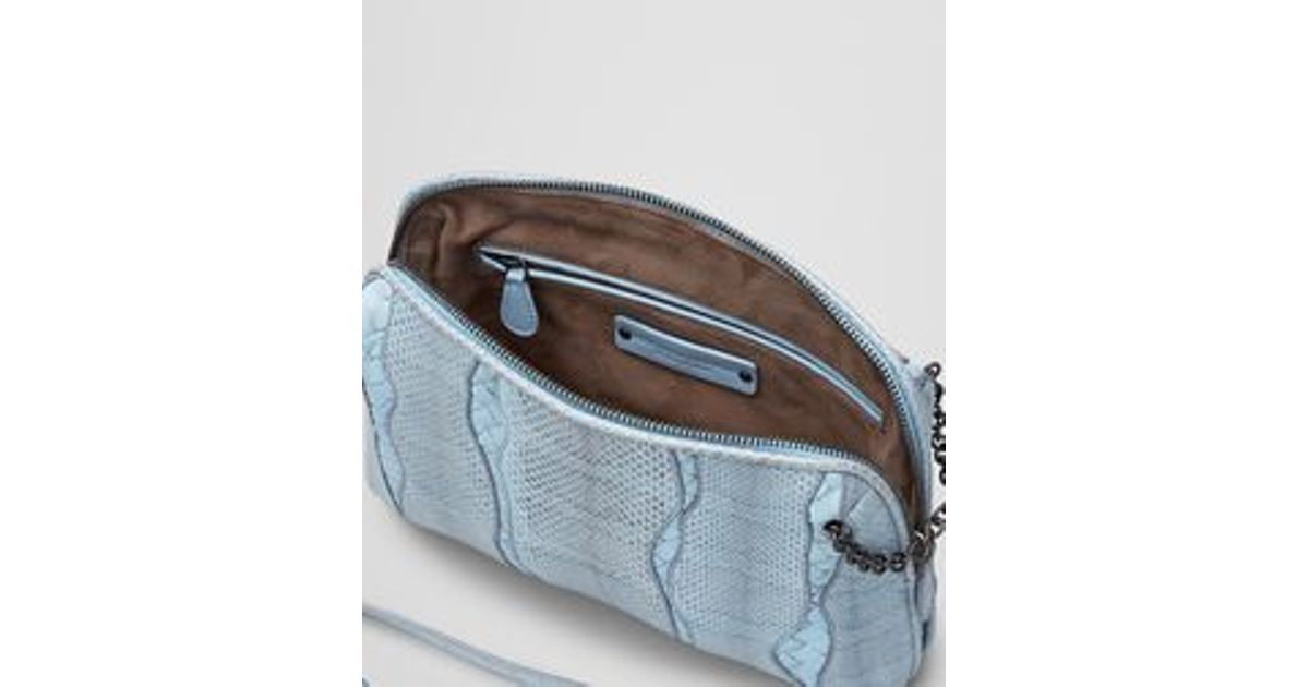 1dc7c0dc15 Lyst - Bottega Veneta Ciel Ayers Intrecciato Nappa Glimmer Messenger Bag in  Blue