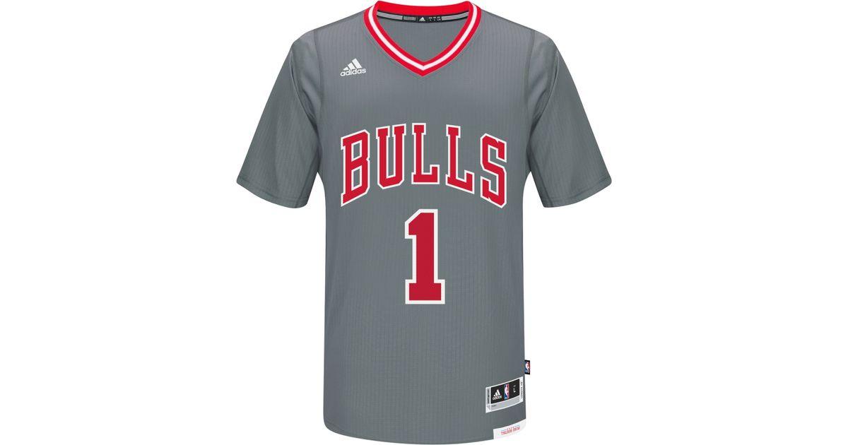 wholesale dealer 1a77f 026cd Adidas Originals Gray Men's Derrick Rose Chicago Bulls New Swingman Jersey  for men