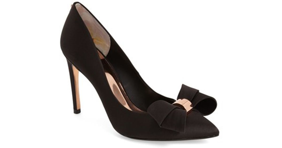 a2735369f57 Ted Baker Black 'ichlibi' Bow Pump