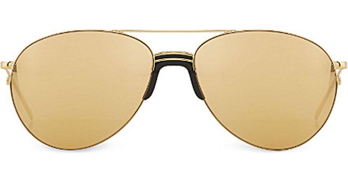 d0b8d65d615 Lyst - Linda Farrow Lfl3442 Sports Luxe Aviator Sunglasses