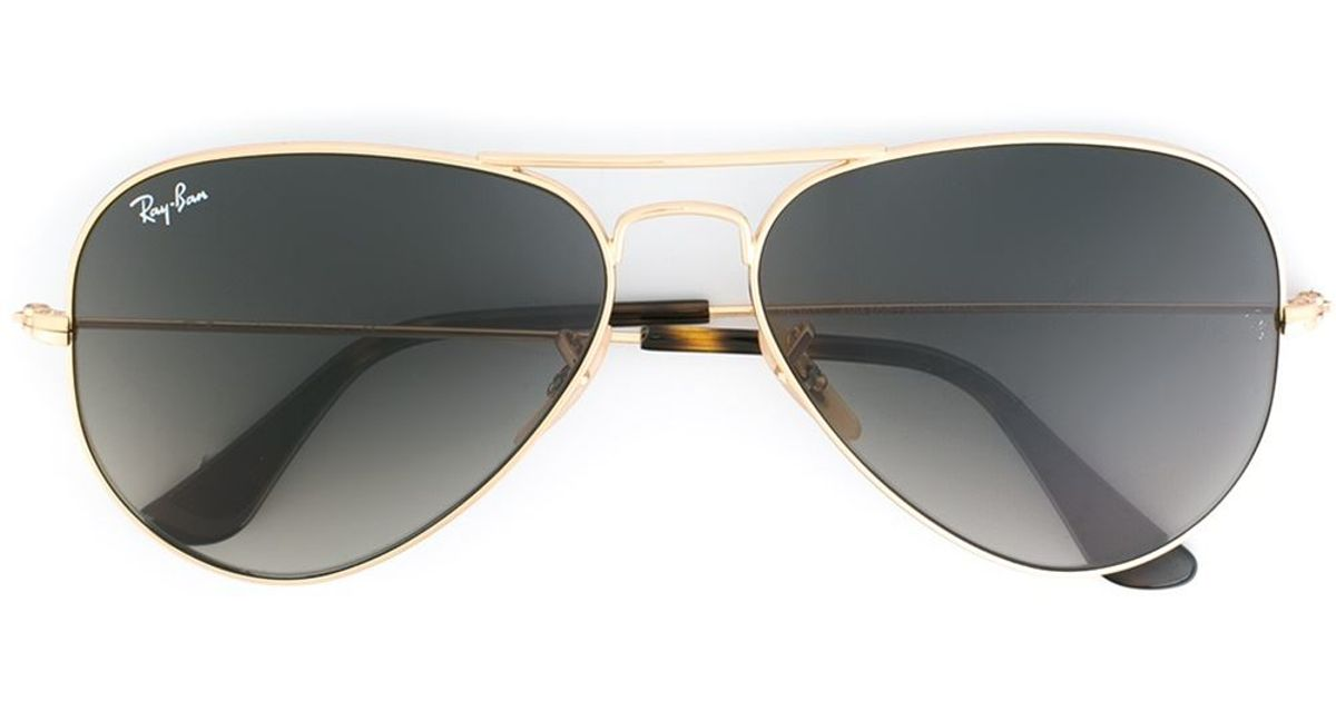 Ray Ban Sunglasses Gold Frame : Ray-ban Aviator Frame Sunglasses in Gold (METALLIC) Lyst