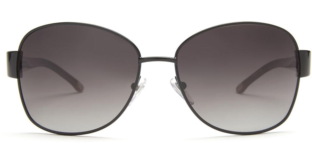 c7b4e1f7caf Lyst - Tommy Bahama Tb7011 Black Round Polarized Sunglasses in Black