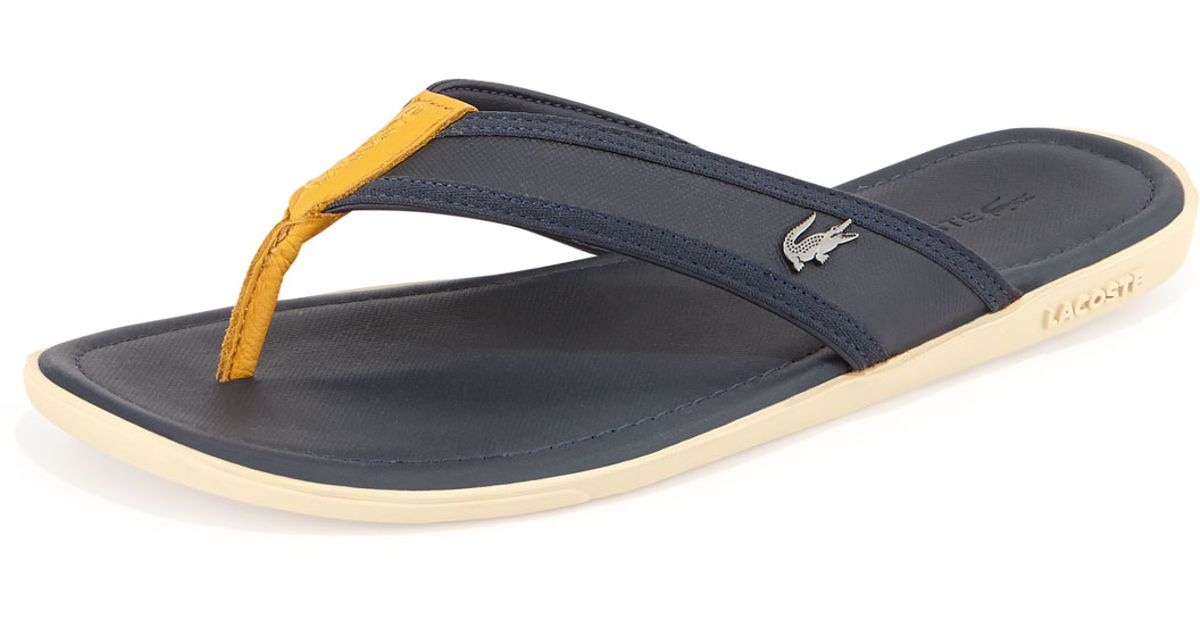 269ec87b4 Lacoste Carros Mens Thong Sandal in Yellow for Men - Lyst