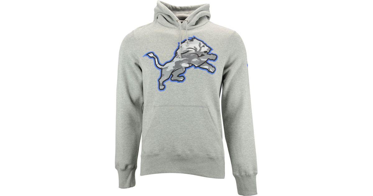 best cheap d5925 70e7d Nike Gray Men'S Detroit Lions Fly Over Pack Hoodie for men