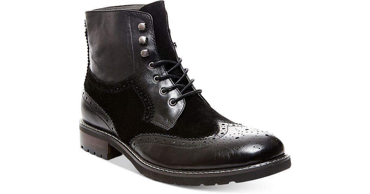 7d59e38ed16 Steve Madden Black Occupie Boots for men