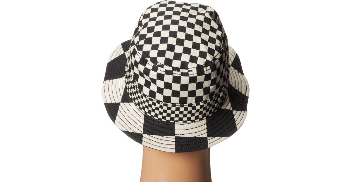 abe6976cd804c Lyst - Vans Checker Bucket Hat in Black for Men