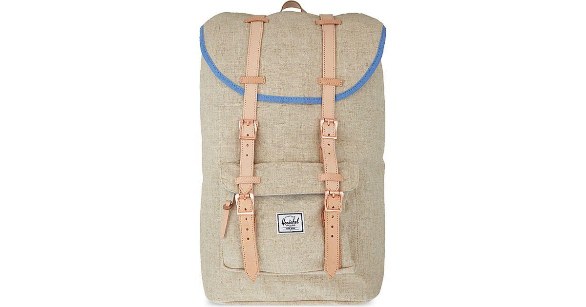 7ef3266e05d3 Herschel Supply Co. Little America Hemp Backpack in Natural for Men - Lyst
