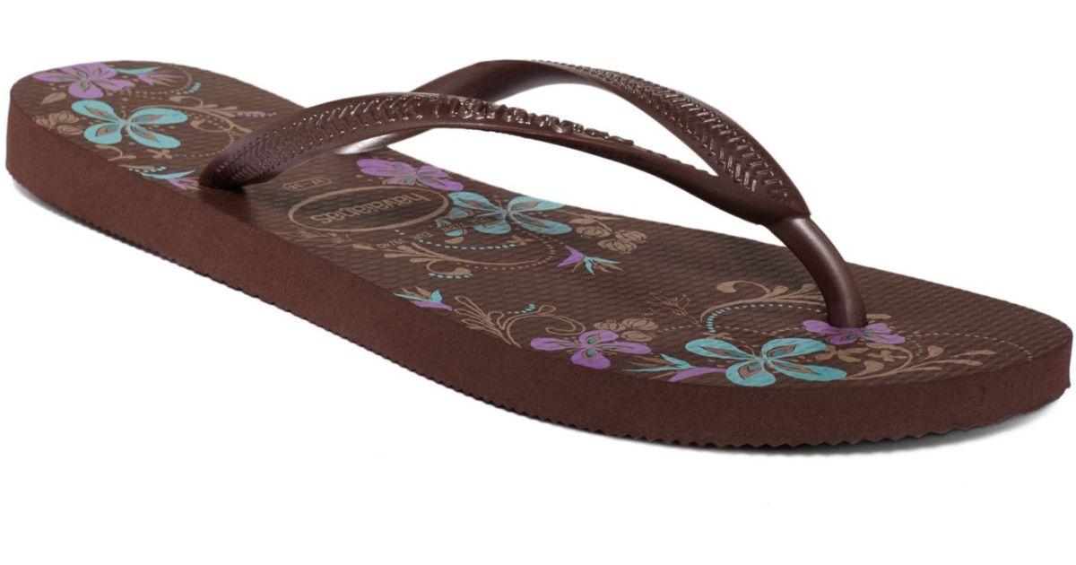 33294011d4f7 Lyst - Havaianas Slim Season Flip Flops in Brown