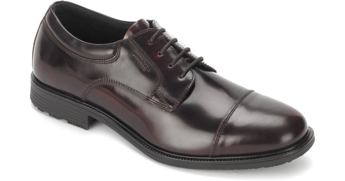 47d01933d2e7a8 Lyst - Rockport Essential Details Waterproof Cap Toe in Black for Men