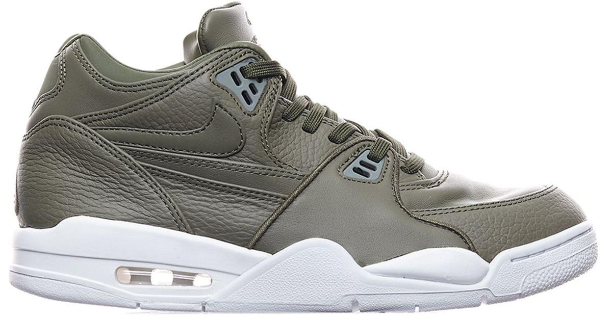 Nike Leather Air Flight 89 Sneakers in