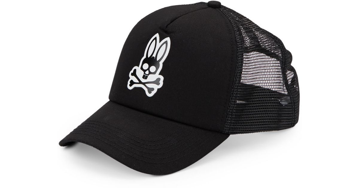 Lyst - Psycho Bunny Perforated Baseball Cap in Black for Men a2a6a46d4d2