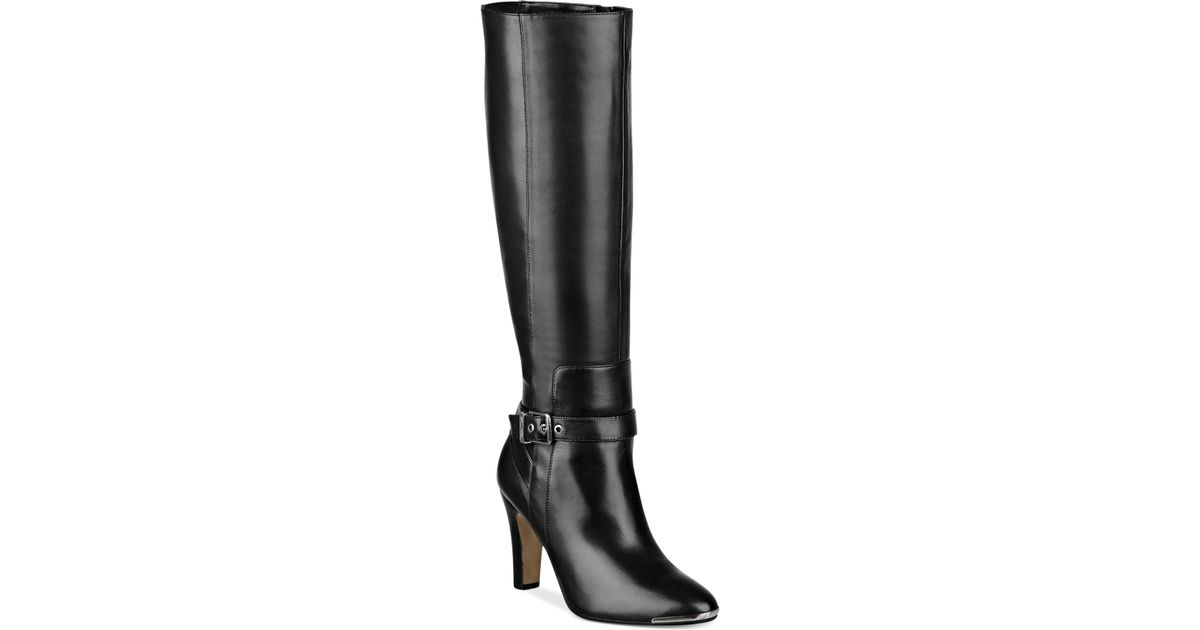Lyst Marc Fisher Ibis Tall Wide Calf Dress Boots In Black