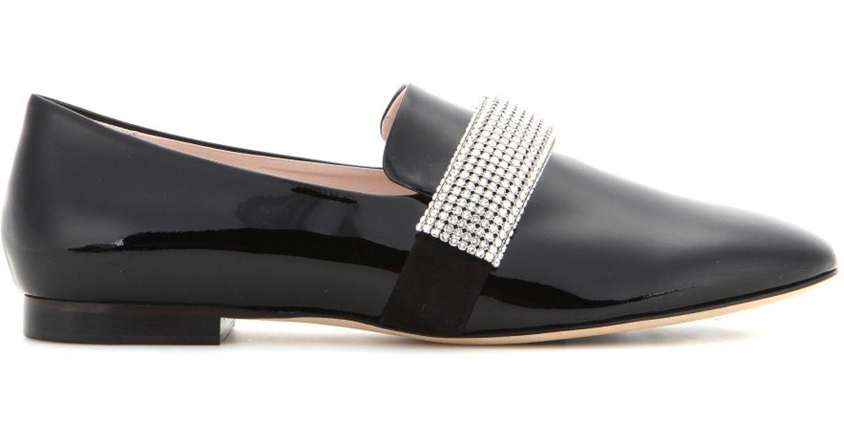 Crystal band patent loafer Christopher Kane Okf01CfgB
