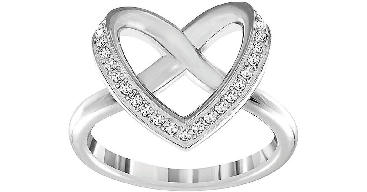 20aba39c4 Swarovski Cupidon Heart Ring in Metallic - Lyst