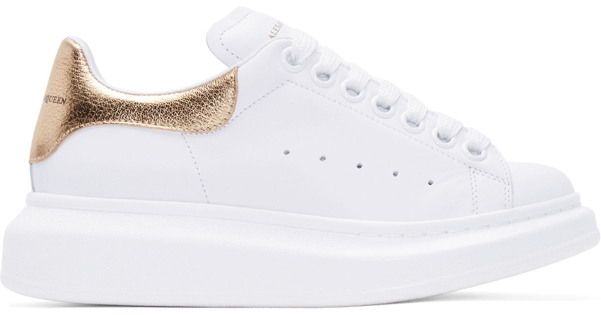 alexander mcqueen trainers white and