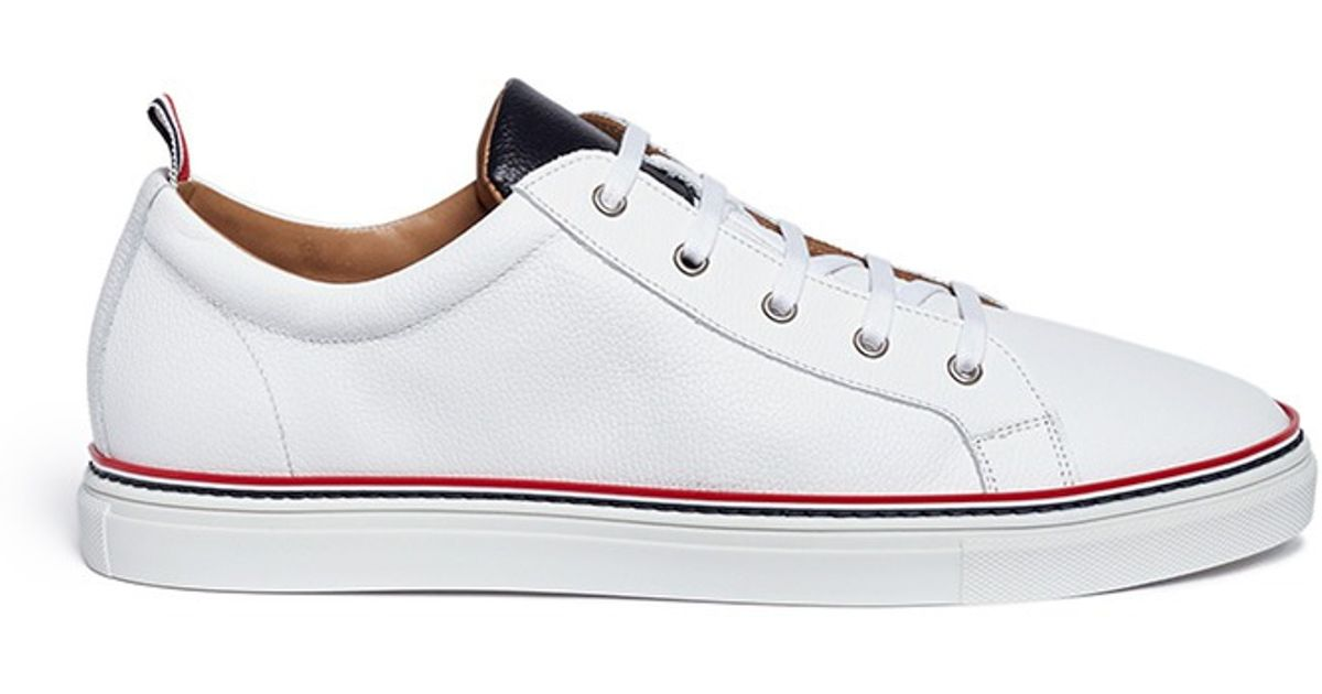Thom Browne Pebble Leather Sneakers in