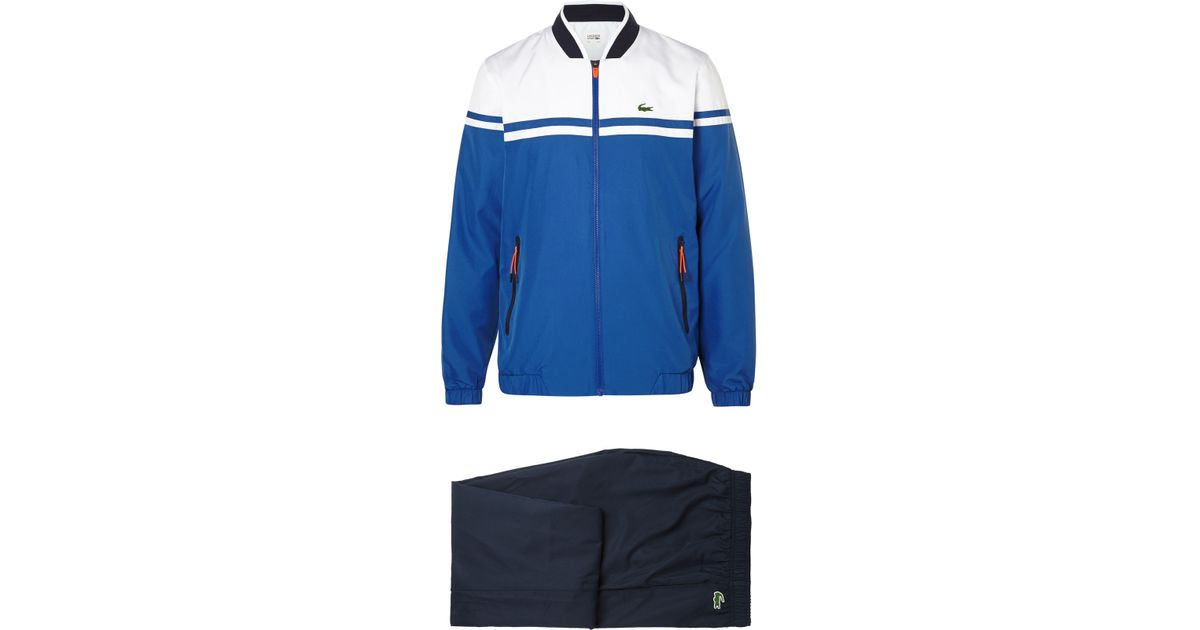 c454aa1ef9 Lacoste Sport Blue Colour-block Shell Tracksuit for men