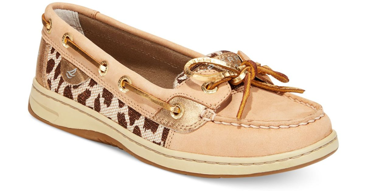 Angelfish Leopard Boat Shoes
