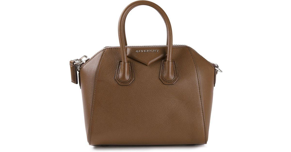 569153be361 Lyst - Givenchy Mini Antigona Tote in Brown