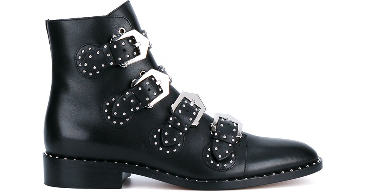 Lyst - Givenchy Prue Leather Biker Boots in Black 559638a28711