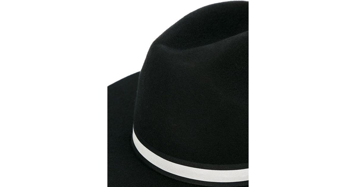 28587b621084d Soulland  bille  Fedora Hat in Black for Men - Lyst