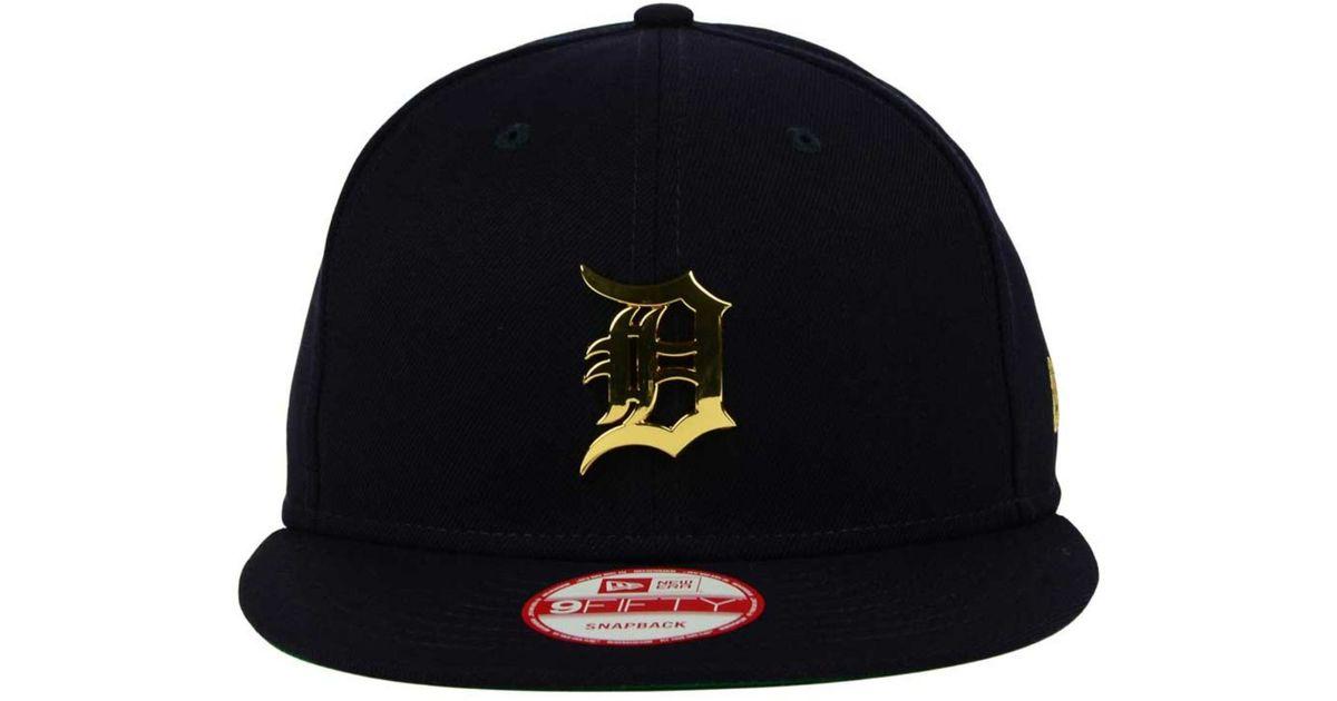 online retailer b57cb c2f18 ... inexpensive lyst ktz detroit tigers league ogold 9fifty snapback cap in  blue for men e037c aa833