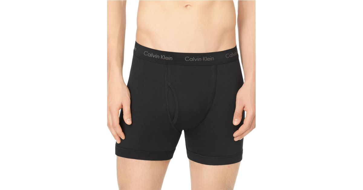 calvin klein three pack cotton classic boxer briefs in. Black Bedroom Furniture Sets. Home Design Ideas