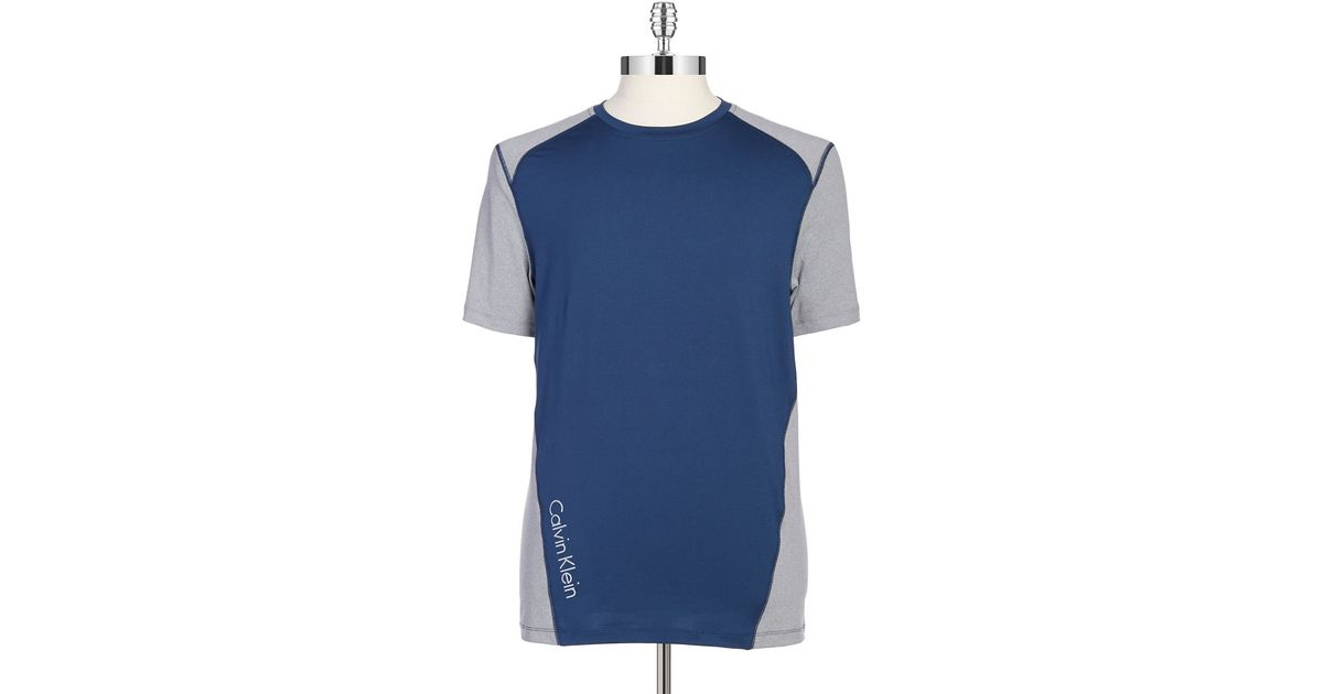 Calvin Klein Performance Tee In Blue For Men Lyst